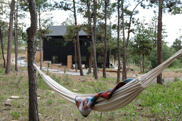 There are plenty of opportunities for guests to engage with the surrounding landscape, from cosy fire pits to hammocks strung between trees.