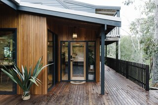 The existing house was leaky and cold, and it was hard to maintain the internal temperature. So, during the renovation most of the windows and doors were replaced with double-glazed units and the home was insulated wherever possible.