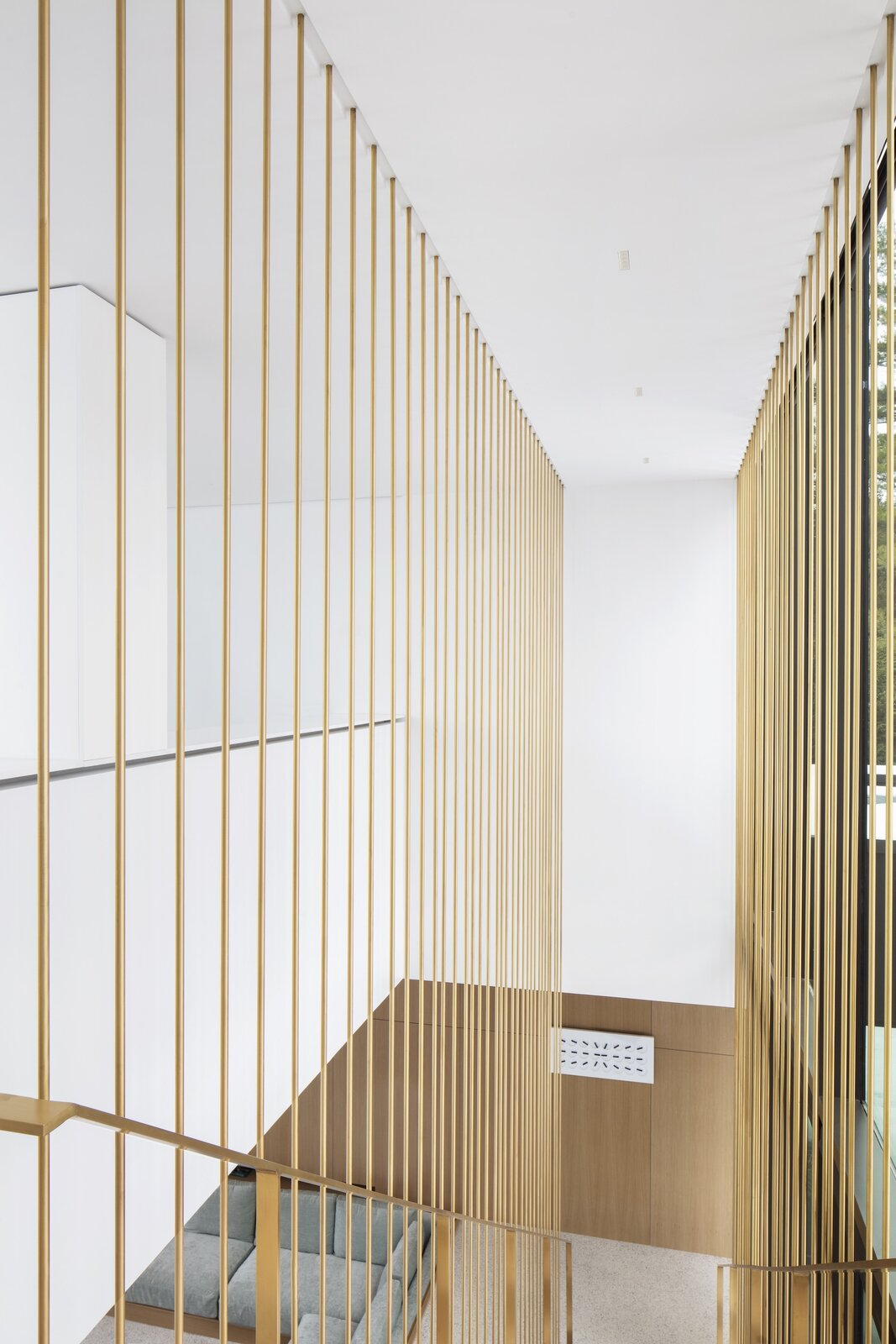 Residence de I'Isle by Chevalier Morales brass staircase