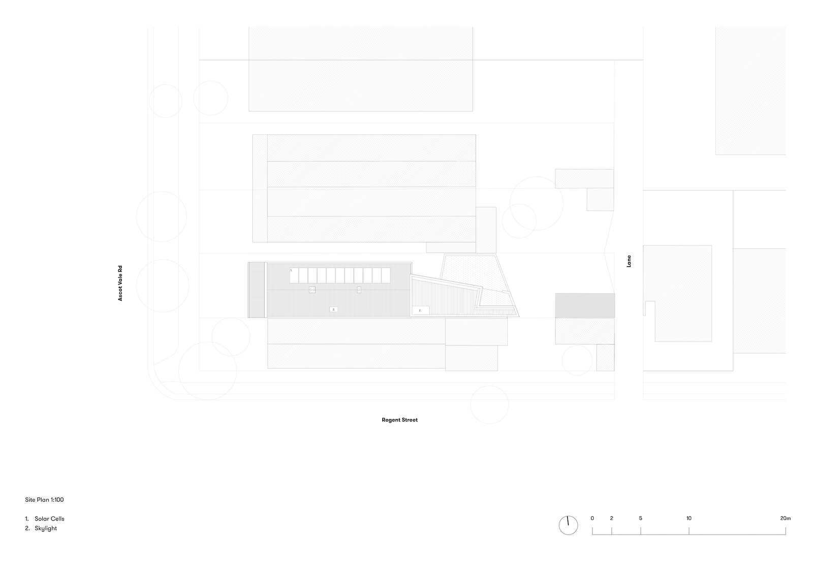 Site plan of Terrace House 1 by Dreamer