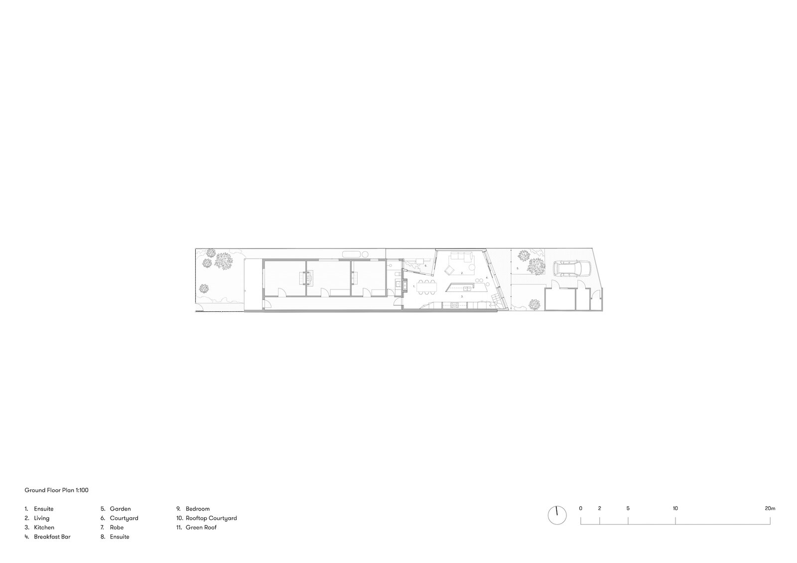 Ground floor plan of Terrace House 1 by Dreamer