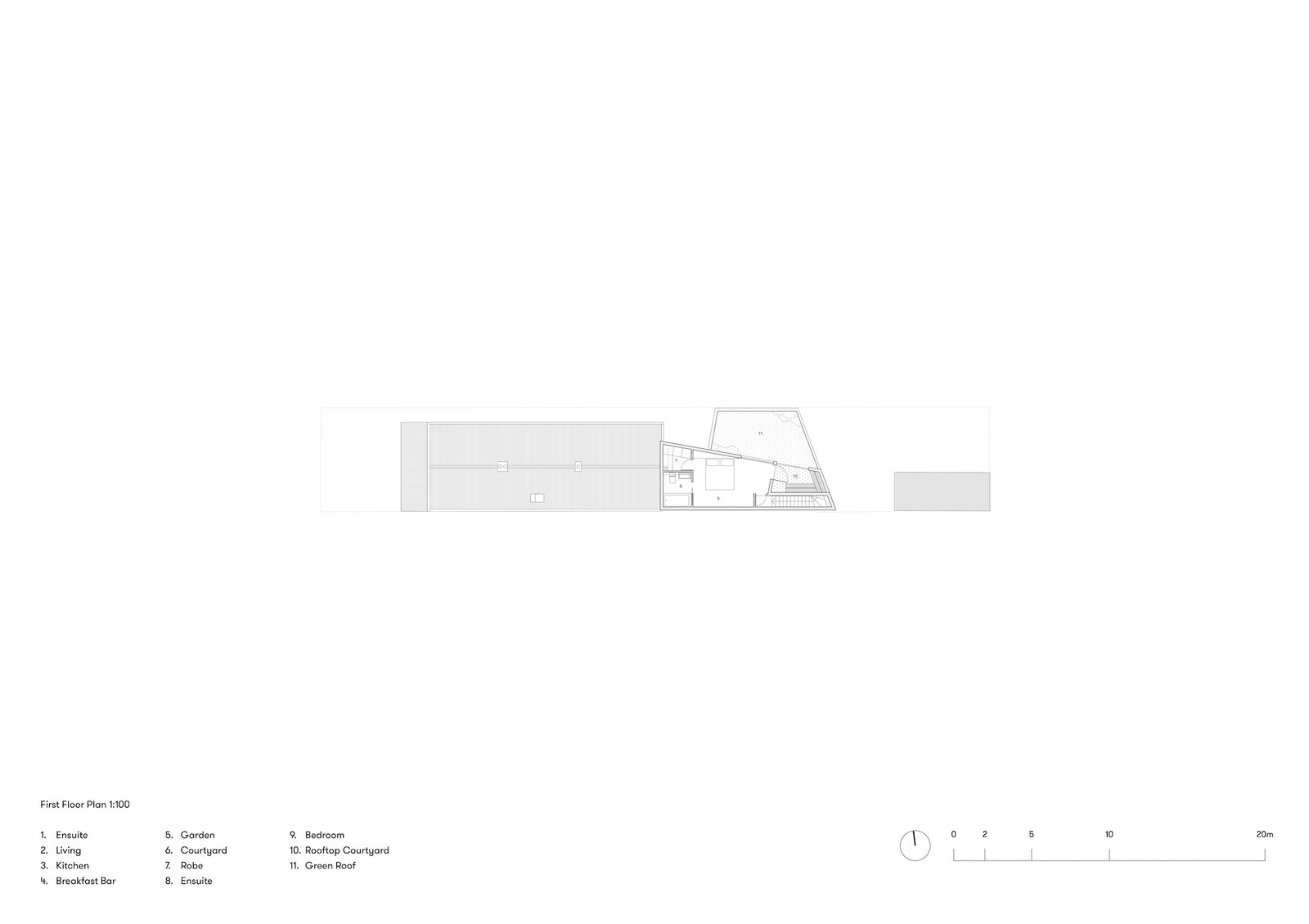 First floor plan of Terrace House 1 by Dreamer