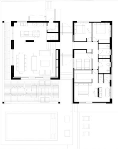 Plan of Casa JMA by Febrero Studio