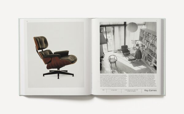 Mid-Century designer Ray Eames is arguably one of the most famous names to be featured in the book. She is known for creating some of the world's most iconic pieces of furniture in collaboration with her husband, Charles, such as the Eames Lounge Chair for Herman Miller.