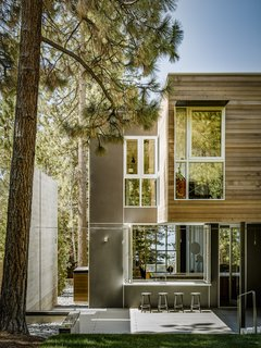 Burnt Cedar playfully interacts with the landscape—including the 60- to 90-foot Jeffrey and Ponderosa pines that populate the lakeshore.