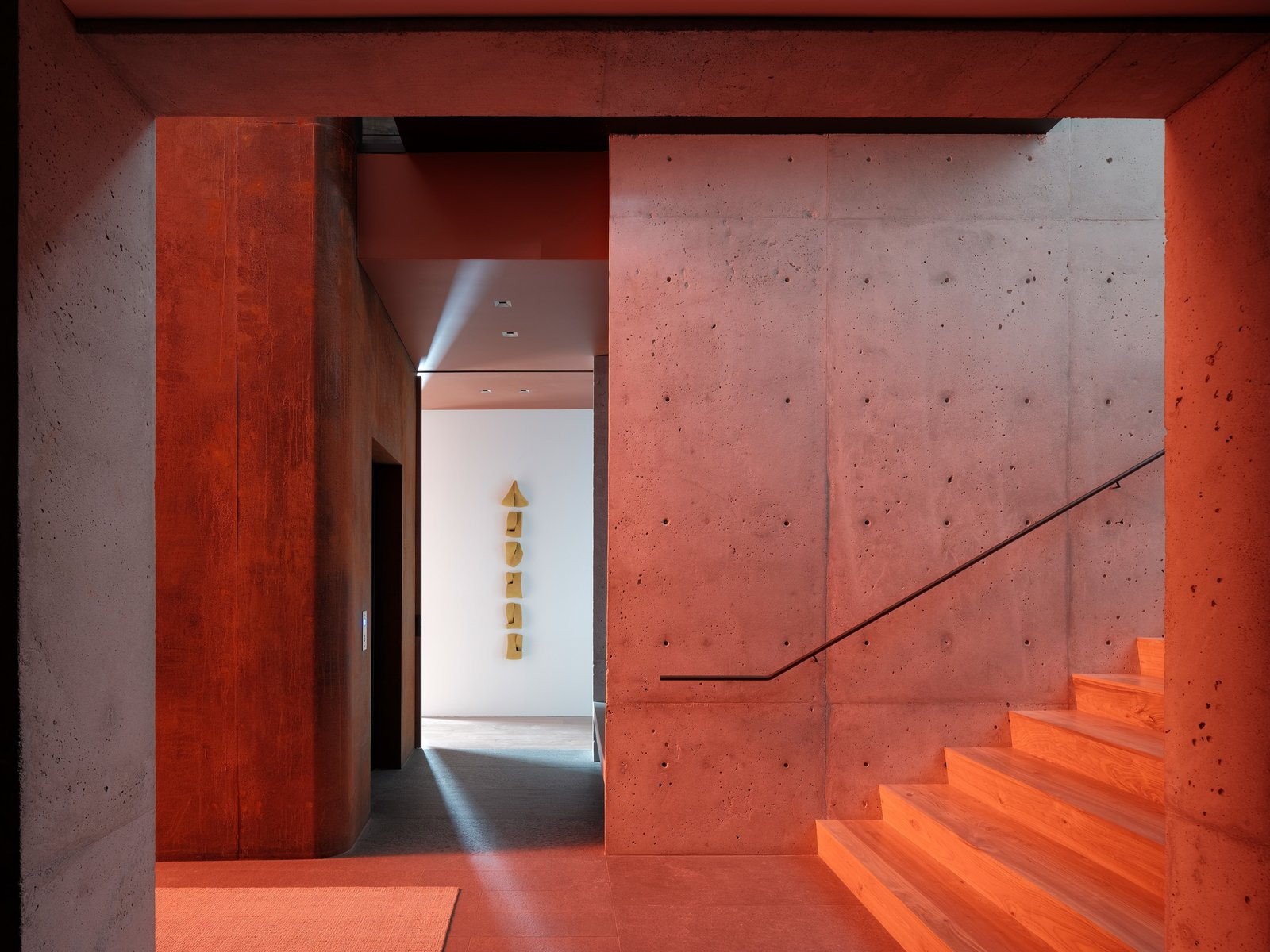 Hallway Lookout  House  Lookout House by Faulkner Architects