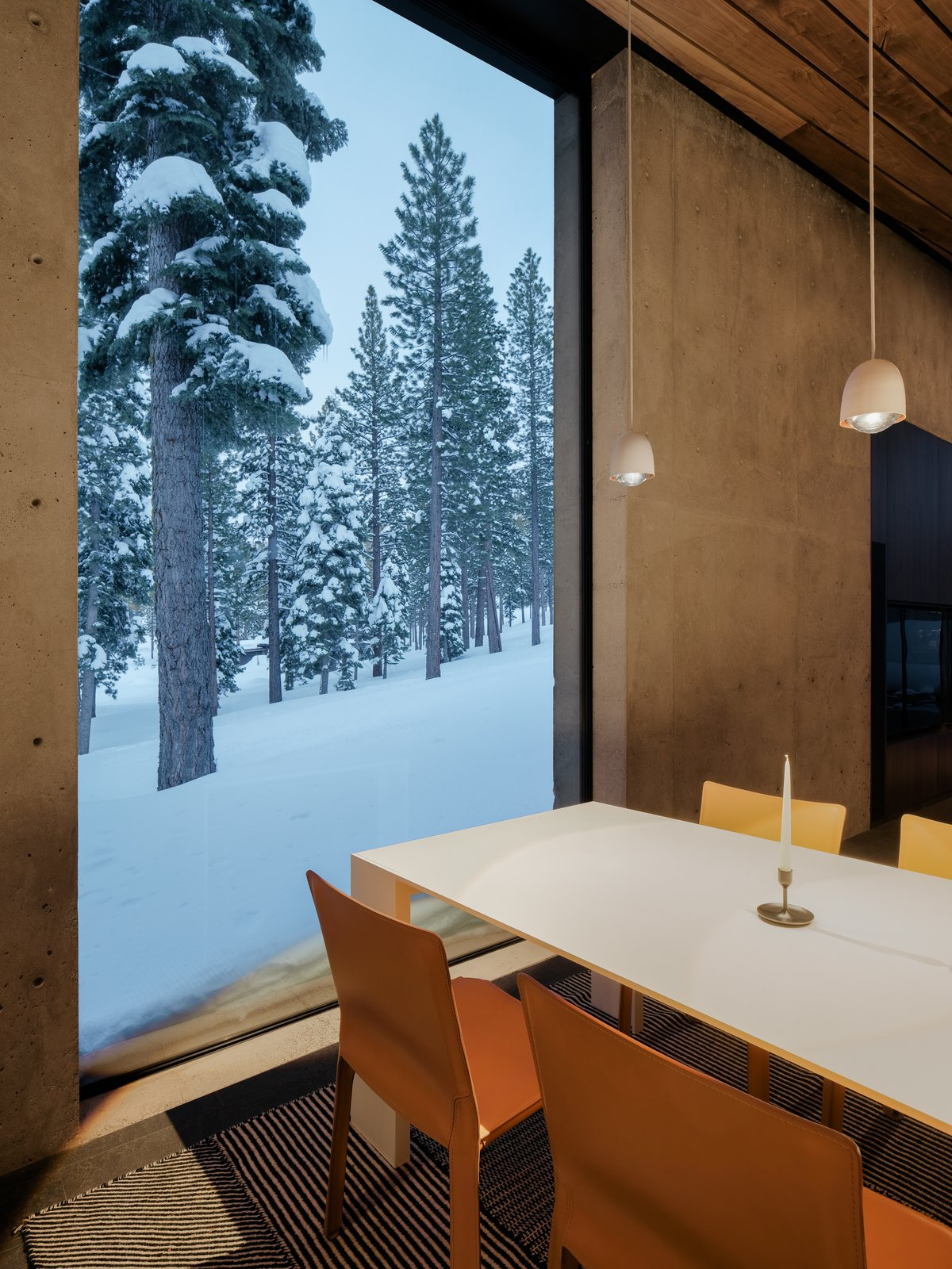 Dining Room Lookout  House  Lookout House by Faulkner Architects