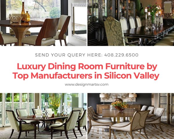 Explore designers' recommended luxury dining room furniture from the top brands including century furniture, Dinec, Fremarc, Lorts, Johnston Casuals, Mackenzie-Dow, Marge Carson, and manufacturers at Design Mart store in Silicon Valley, San Jose, California.  Visit here for Top Furniture Brands in Silicon Valley - https://www.designmartsv.com/product-category/dining/  Send your query here: 408.229.6500