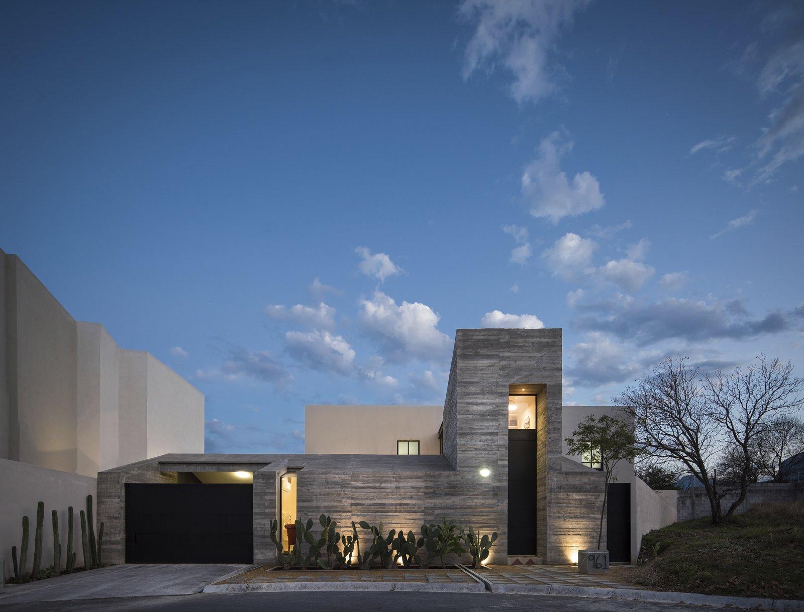 Exterior, House Building Type, and Concrete Siding Material Facade  Pia Residence