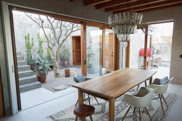 """""""I think patios are very important in this kind of weather-adjusting architecture,"""" says Elizarraras. """"They come all the way from Arabic architecture, from 15th-century Southern Spain."""""""