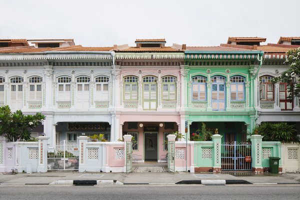 Still House sits within a row of colorful shophouses along Koon Seng Road in Singapore's culturally rich Joo Chiat district.