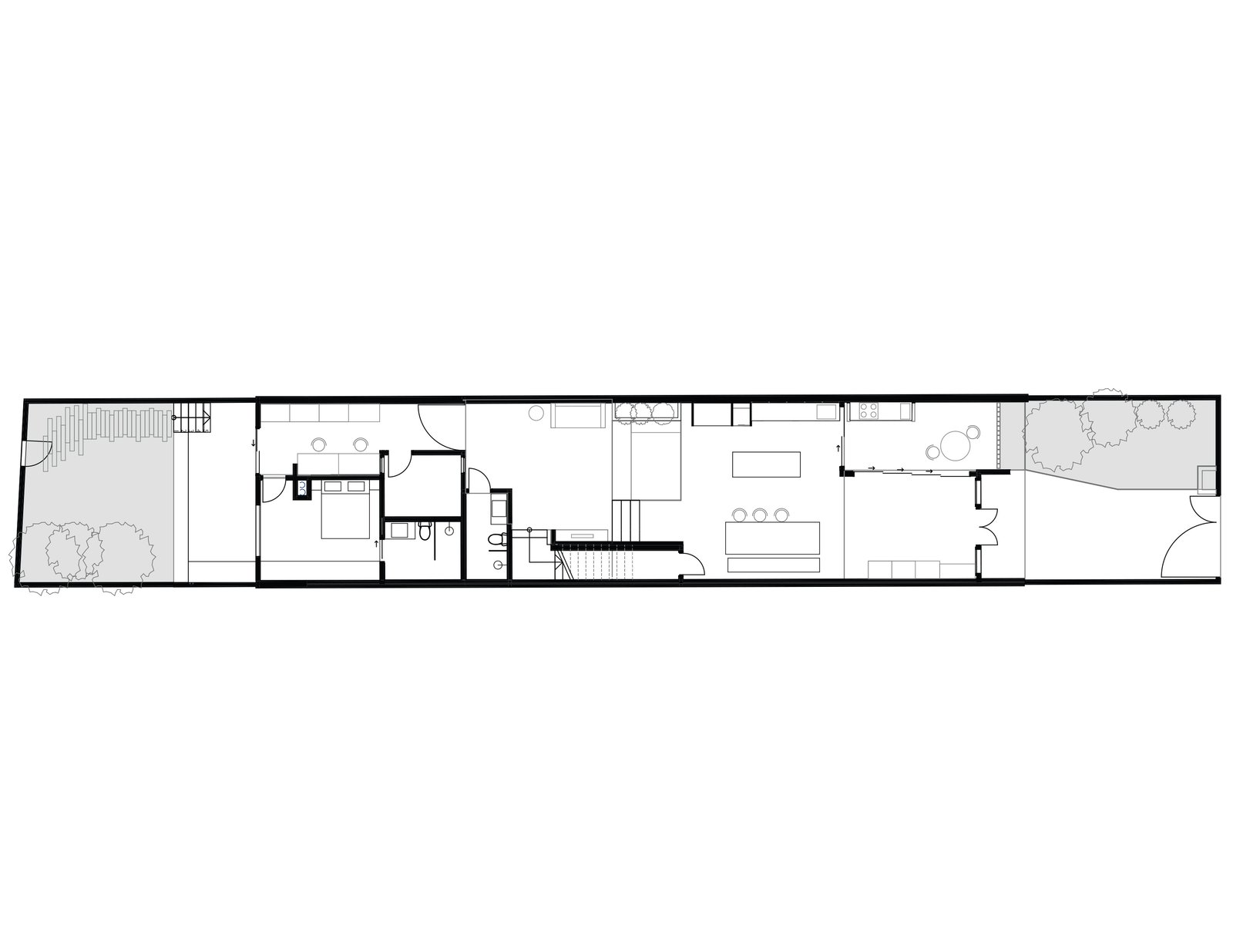 Heng House first floor plan  Photo 19 of 22 in An Imaginative Courtyard House in Singapore Makes Room for Multiple Generations