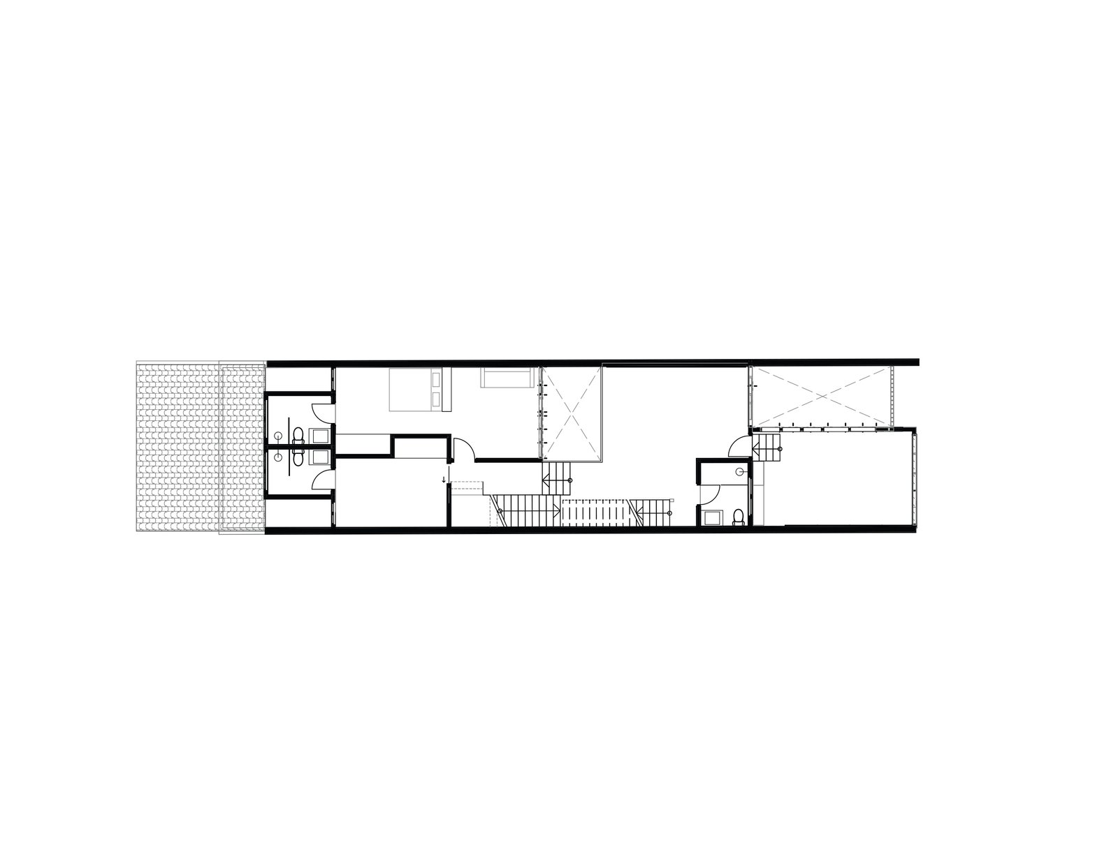 Heng House second floor plan  Photo 20 of 22 in An Imaginative Courtyard House in Singapore Makes Room for Multiple Generations