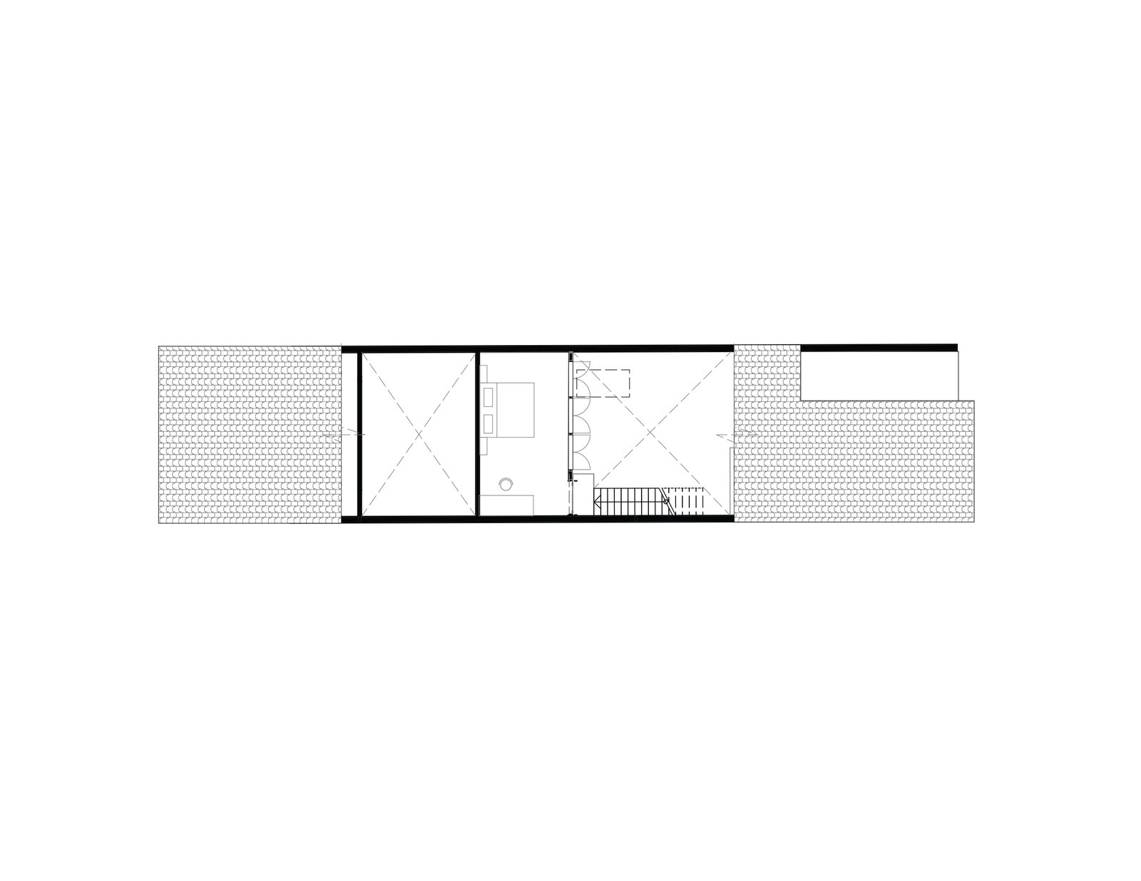 Heng House mezzanine floor plan  Photo 21 of 22 in An Imaginative Courtyard House in Singapore Makes Room for Multiple Generations