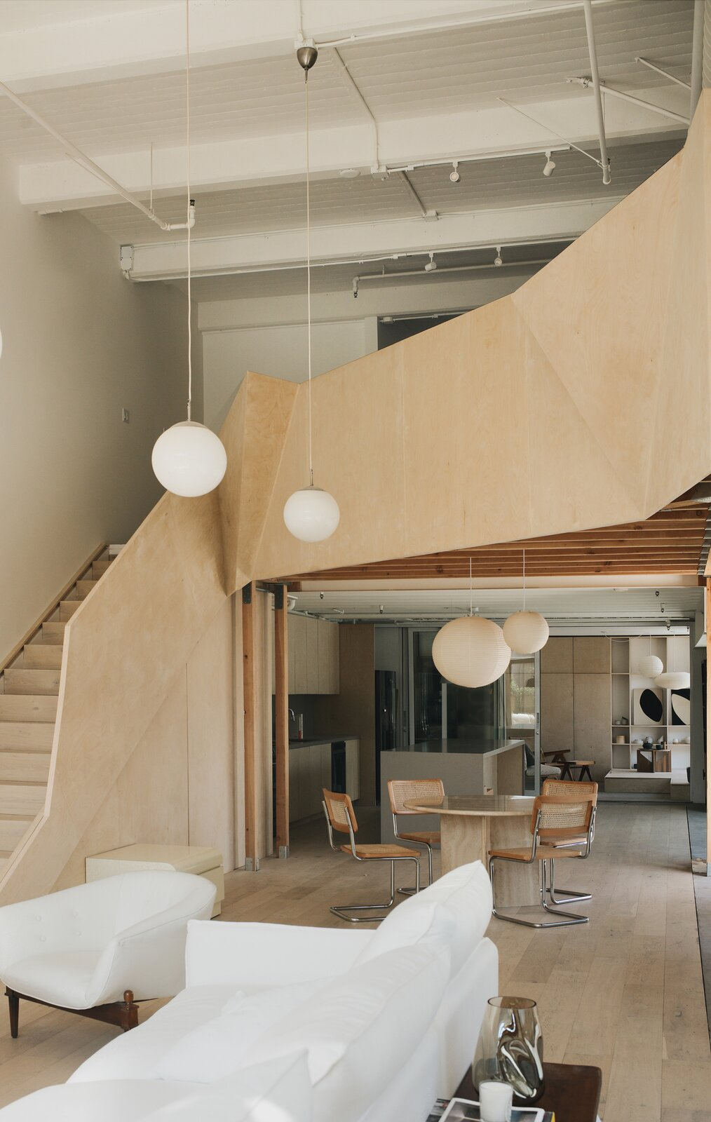 Biscuit Loft by OWIU Design staircase, before and after