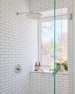 Modern Bathroom Subway Tile Walls, Bathroom White Subway Tile