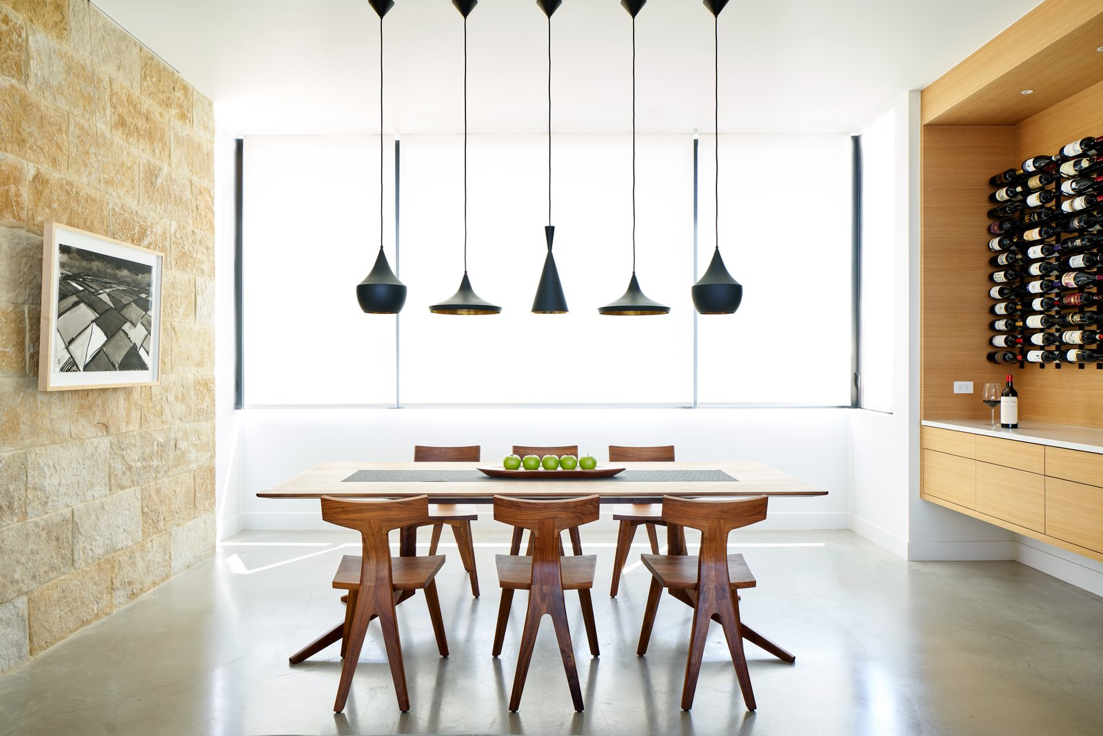 Dining, Chair, Ceiling, Concrete, Table, Recessed, Storage, Pendant, and Shelves Lago Vista by Dick Clark + Associates  Dining Concrete Table Ceiling Shelves Photos from Lago Vista
