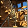 Modern home with Staircase, Wood Tread, and Metal Railing. Stairs in the Sunspace, Meridian Photo 6 of Meridian