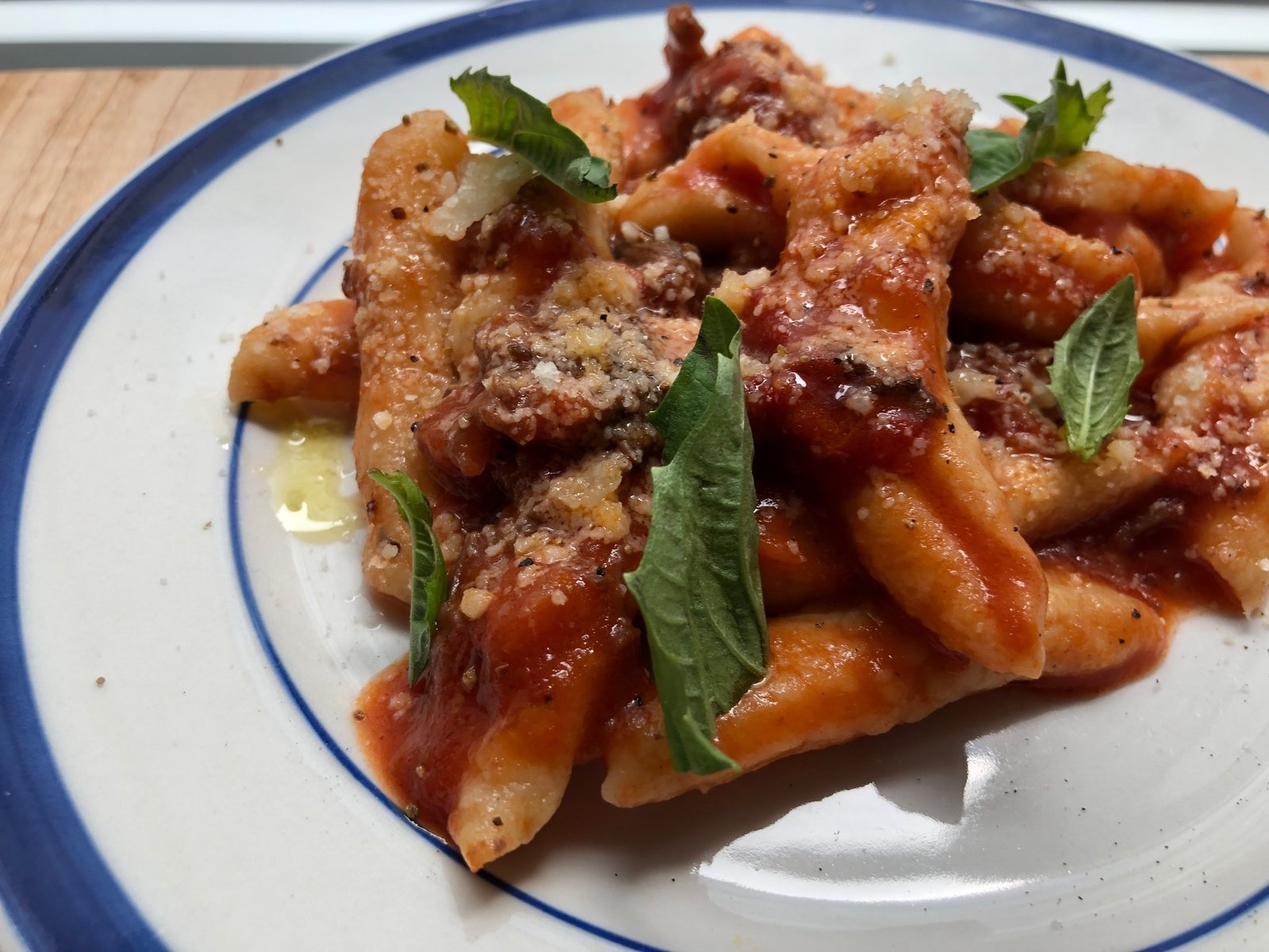 """""""We've been making a lot of fresh pasta. Pasta is our ultimate comfort food, and the process of making it by hand is comforting to us as well,""""  say Rito and Tacinelli.  Photo 6 of 13 in 5 Comforting Dishes That Top Chefs Are Making at Home"""