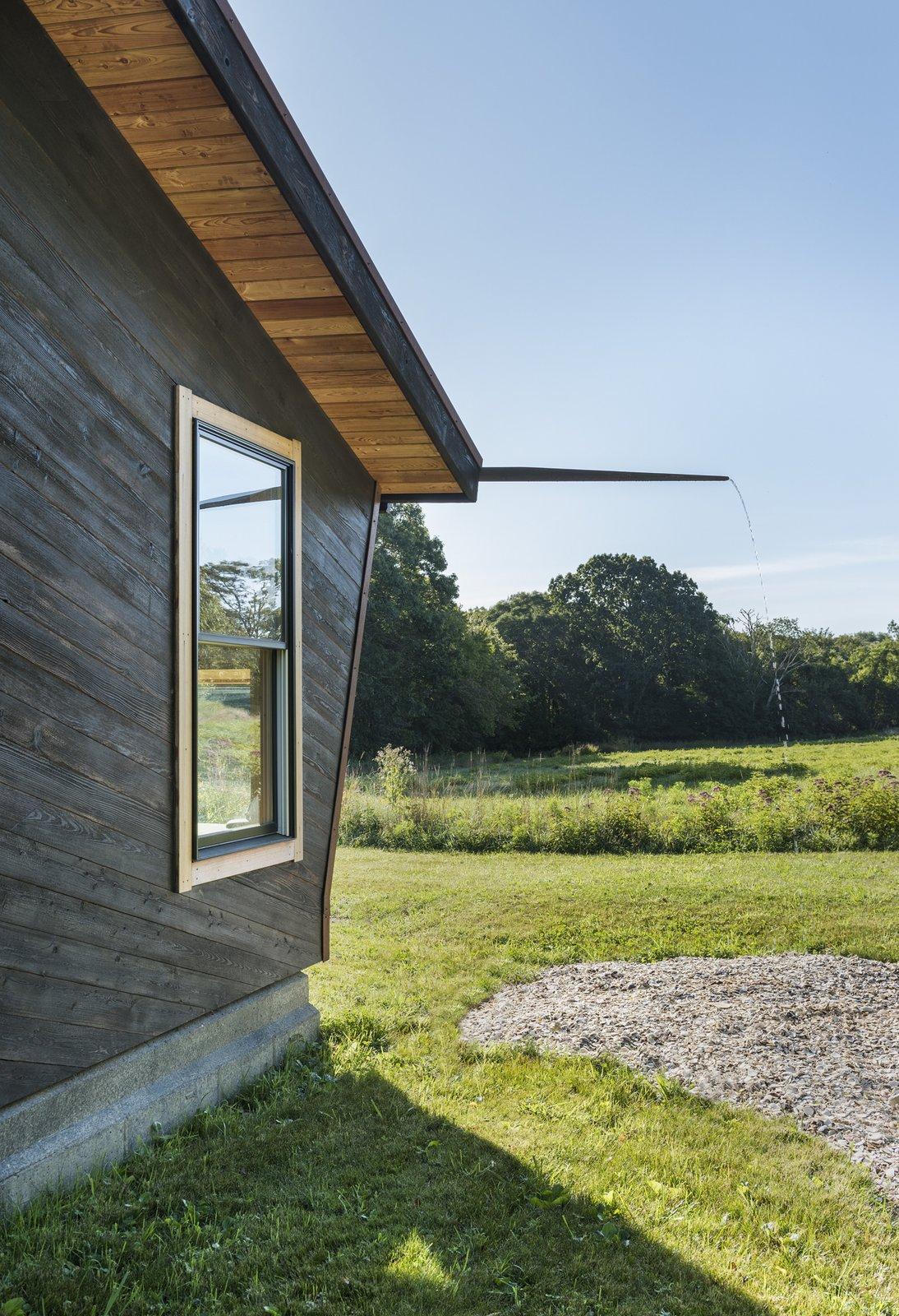 Therapy Cabin by from  [in] form rain gutter swale