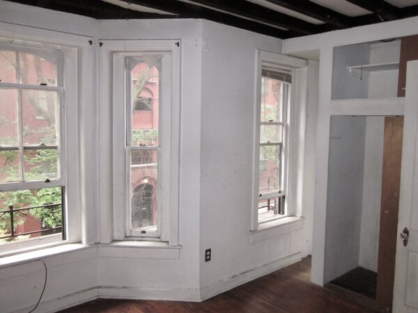 The second floor had front and back bedrooms prior to the renovation.