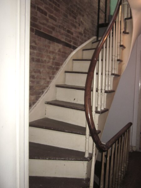 Existing staircases had curved handrails and spindle balusters.