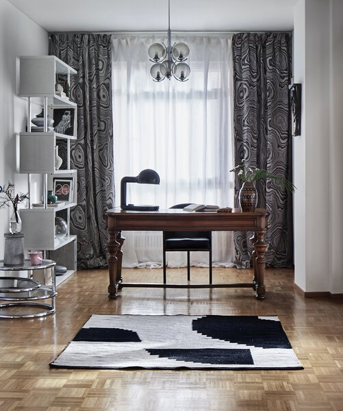 """Alexandrine had the Costes chair by Philippe Starck sent from Ukraine. """"I found it a few years ago in an Italian secondhand bookshop among the vintage art albums and couldn't leave without it,"""