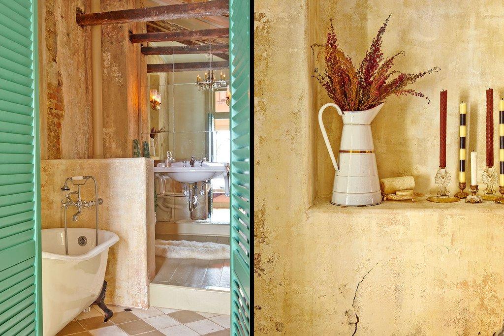 Bath Room, Ceramic Tile Floor, Light Hardwood Floor, and Freestanding Tub Have a soak in the tub.  Antoine Bordeaux House