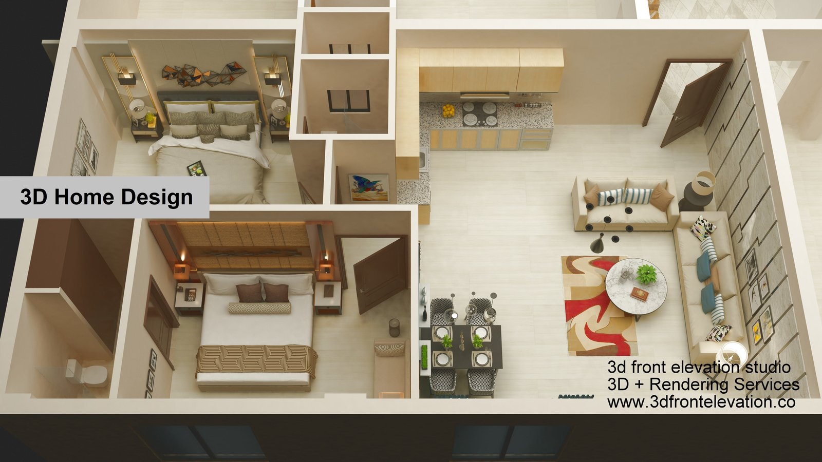 3D Home Design + Rendering Services  3D Interior Rendering
