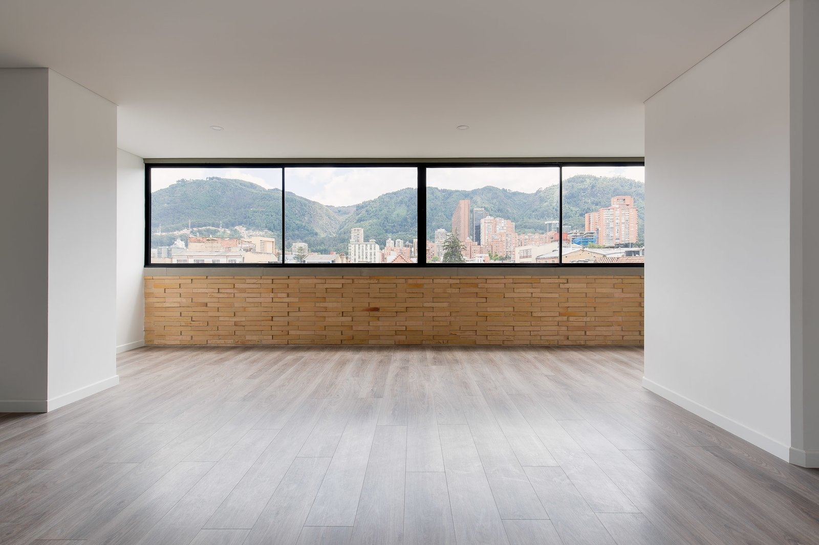 Living Room, Vinyl Floor, and Recessed Lighting View of Cerros Orientales from living room   Tribeca