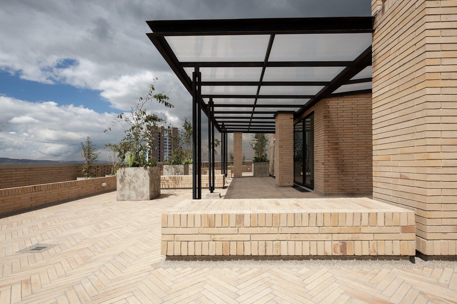 Exterior and Brick Siding Material Pergola  Tribeca