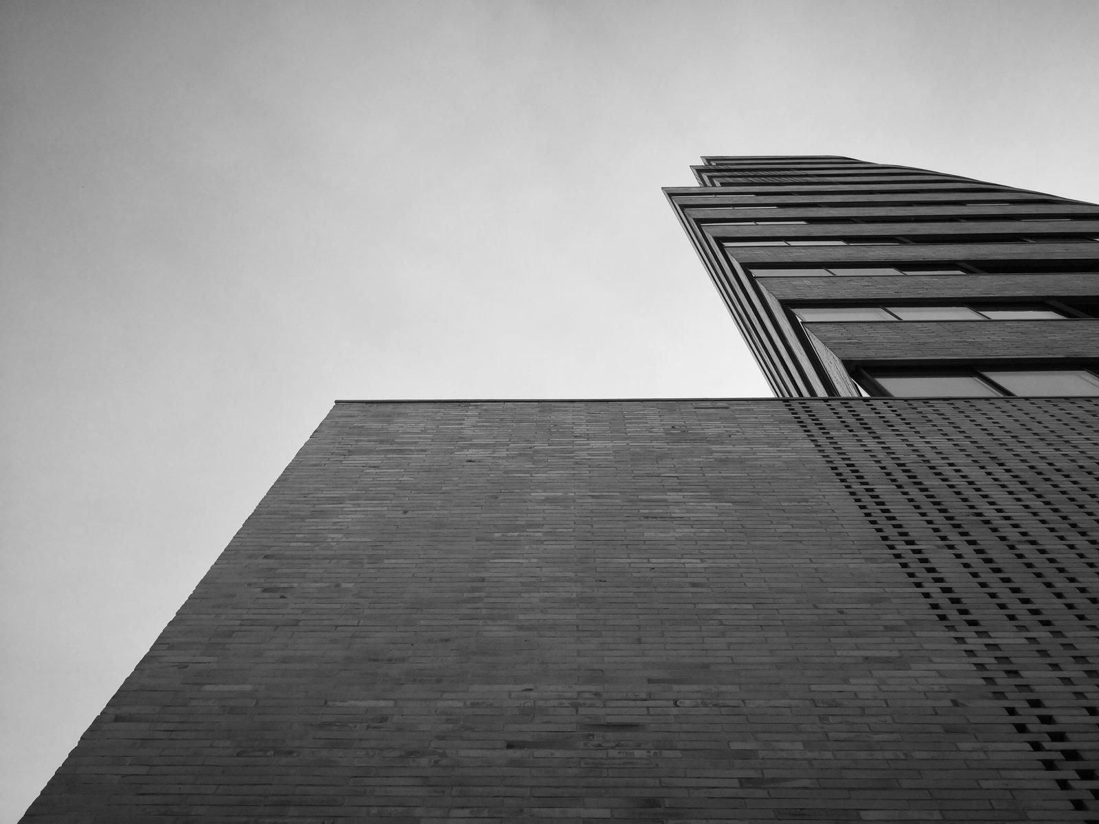 Exterior, Brick Siding Material, and Glass Siding Material Corner   Tribeca