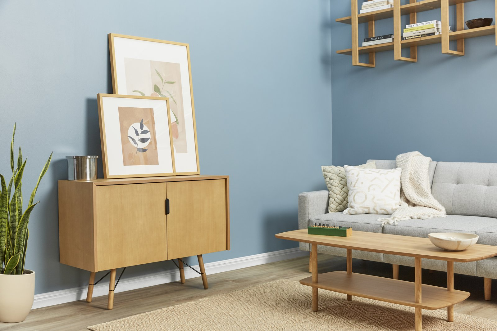 The Serif credenza, pictured here in oak, has been designed to hold TVs up to 65  Photo 4 of 6 in The Internet's Favorite Furniture Brand Now Offers Chic, Affordable Benches and Credenzas