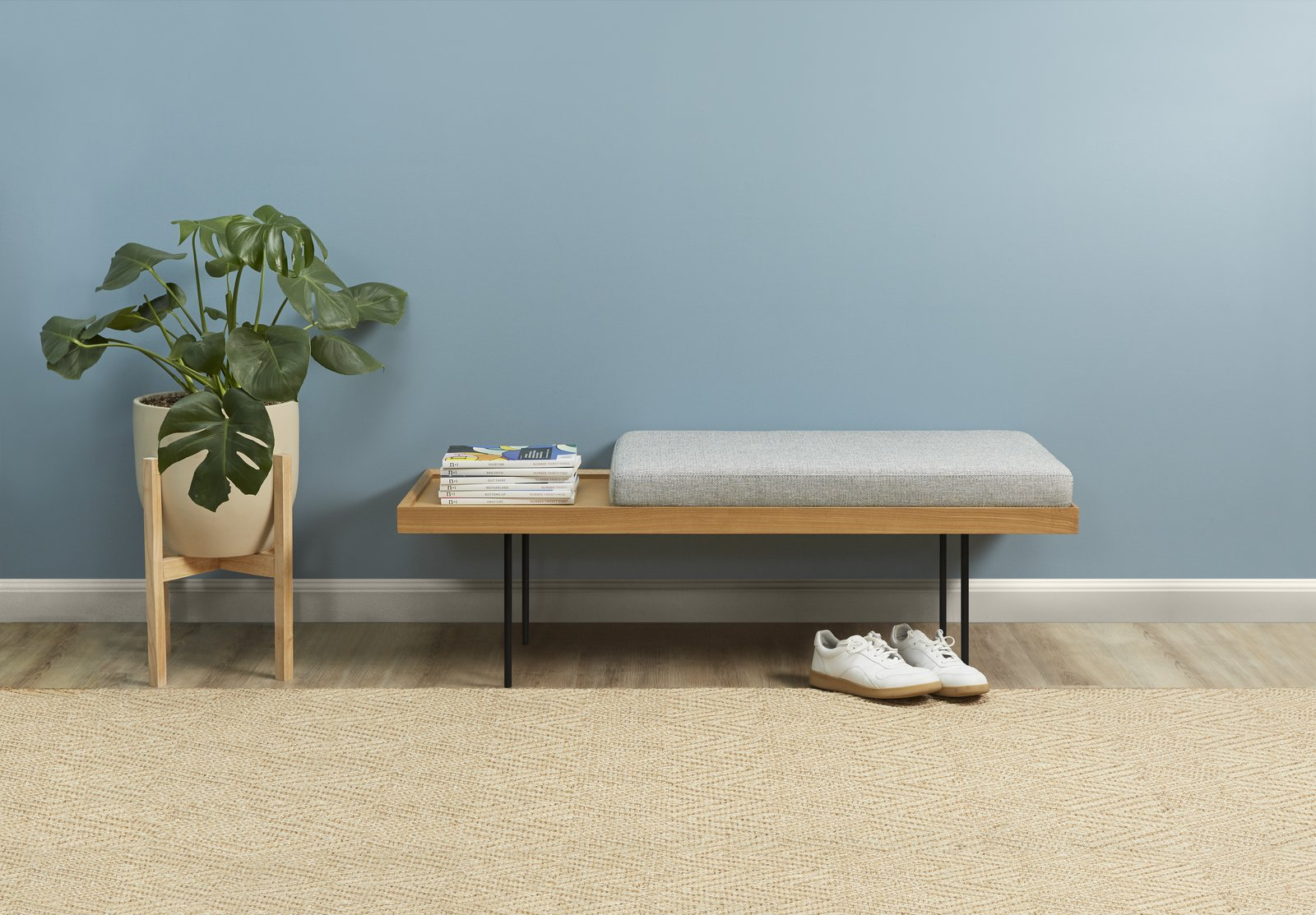 The Bento bench has a moveable cushion and comes with hairpin or straight legs.  Photo 6 of 6 in The Internet's Favorite Furniture Brand Now Offers Chic, Affordable Benches and Credenzas