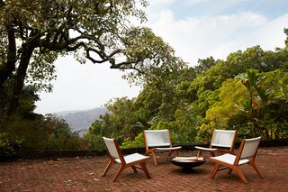 Ginger's chair collection is extensive and includes plenty of low teak chairs for the garden, patio, and deck.