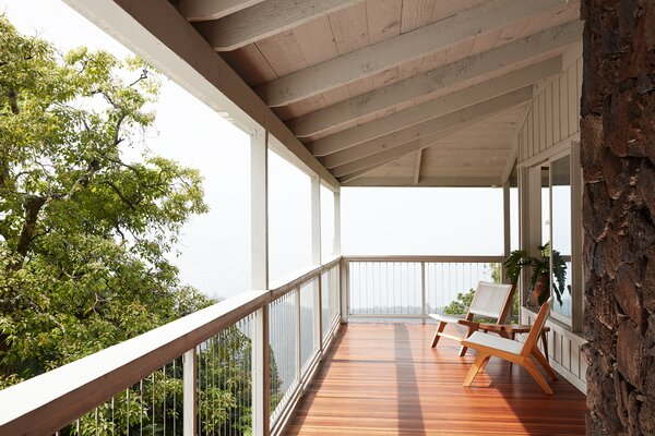 The renovated deck stayed true to the original design.