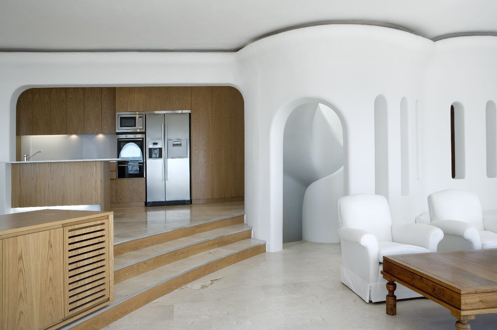 "Kitchen, Granite Counter, and Refrigerator https://dscape.co.za/projects/the-odyssey/  Search ""출장예약금[KaKaotalk:ZA31]"" from The Odyssey"