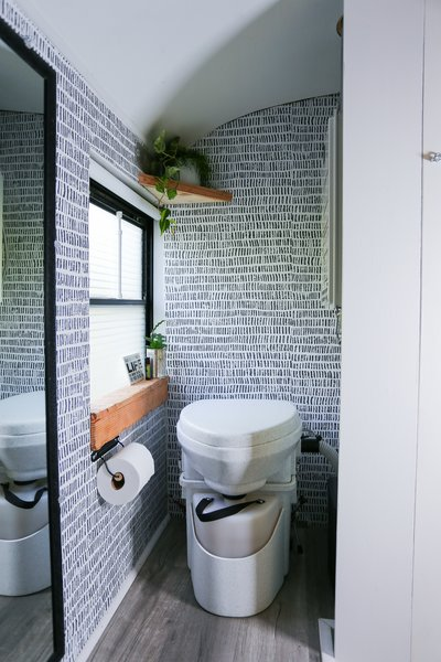 """""""Worth every penny,"""" says Tina of the $1,000 composting toilet, which allows the family to unplug and go off the grid."""