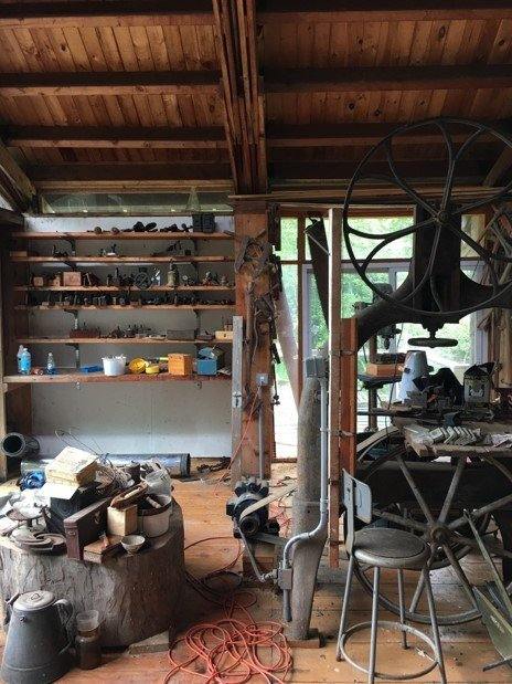 The interior of The Shop, before Erin Pellegrino's renovations and restorations.