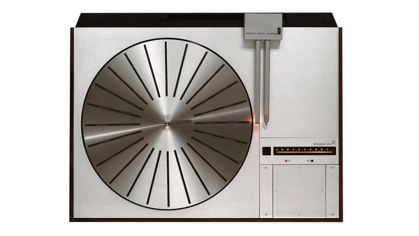 The re-released Bang & Olufsen Beogram 4000 turntable, originally issued in 1972.