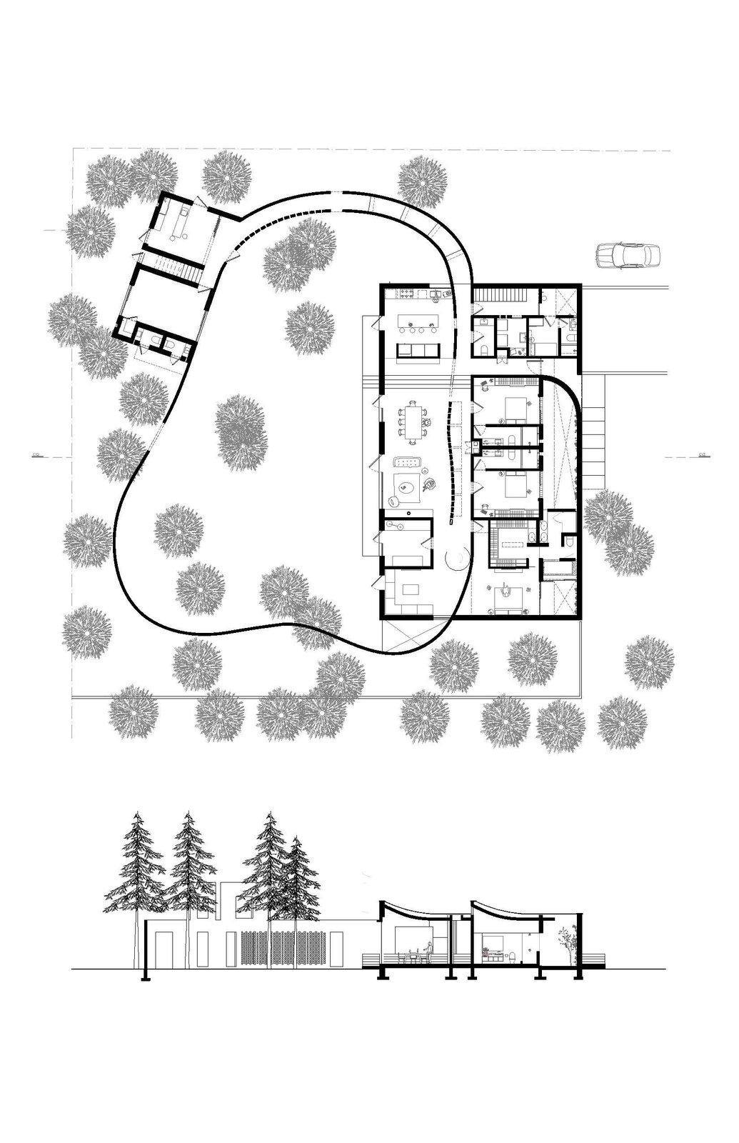 Forest House floor plan