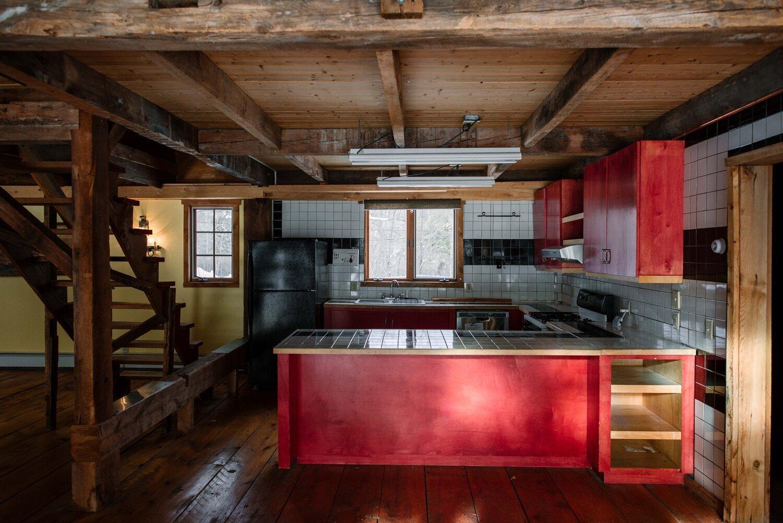 The Hunter Barnhouse kitchen before renovation.