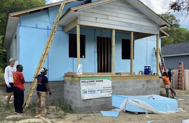 The Habitat for Humanity chapter in Macon, Georgia, started this home build during fundraising efforts. Referendum A will exempt the group from paying property taxes on lots under development.   Photo 6 of 10 in A State-by-State Guide to Housing Measures on the 2020 Ballot
