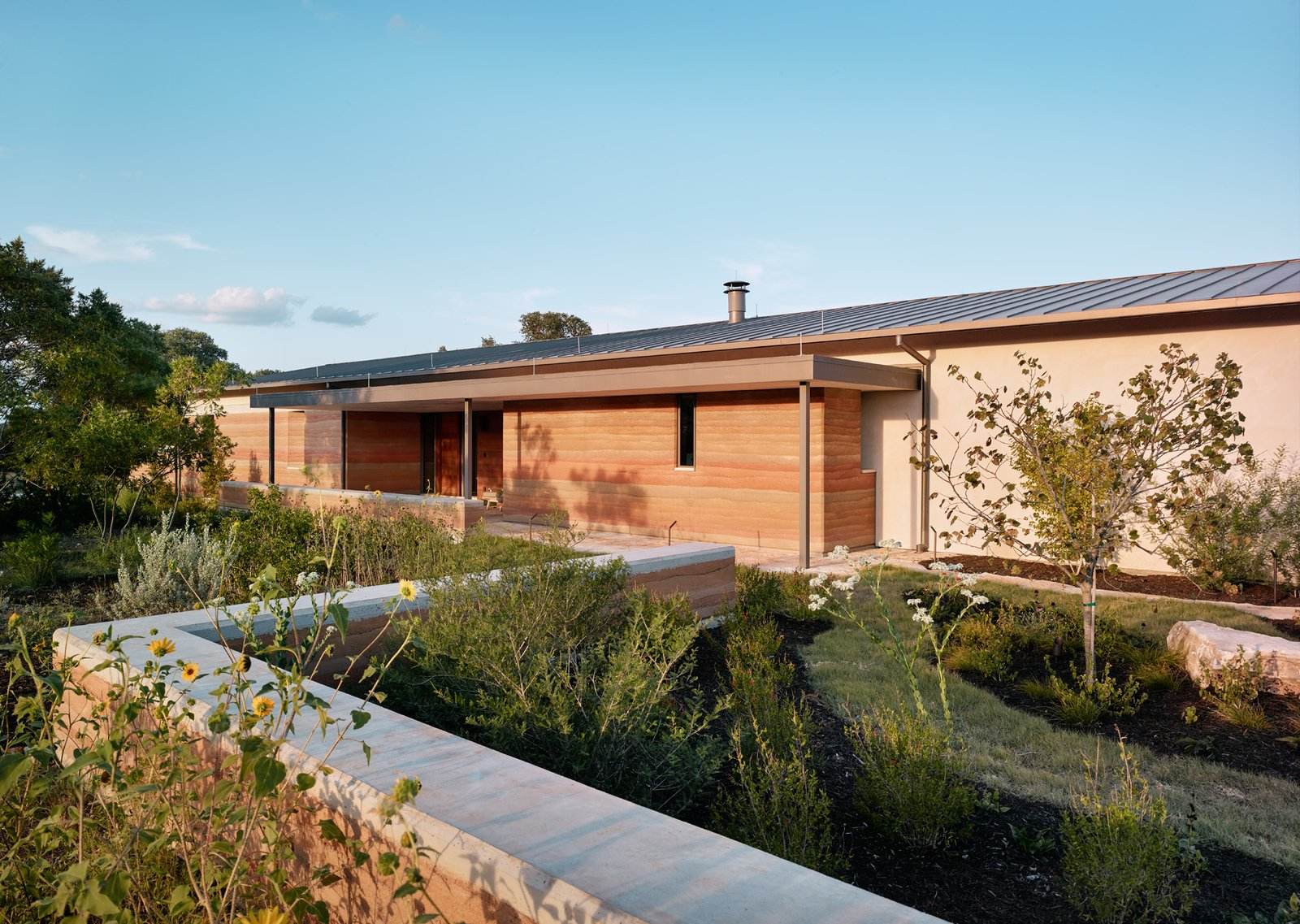 Jobe Corral Architects River Ranch house exterior.
