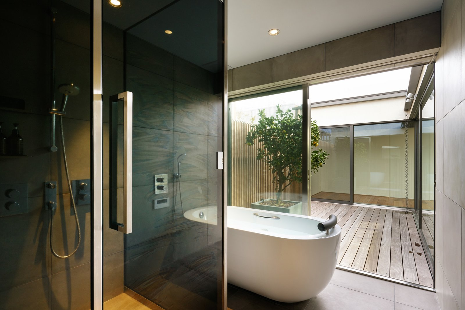 House in Yoga by Keiji Ashizawa Design bathroom