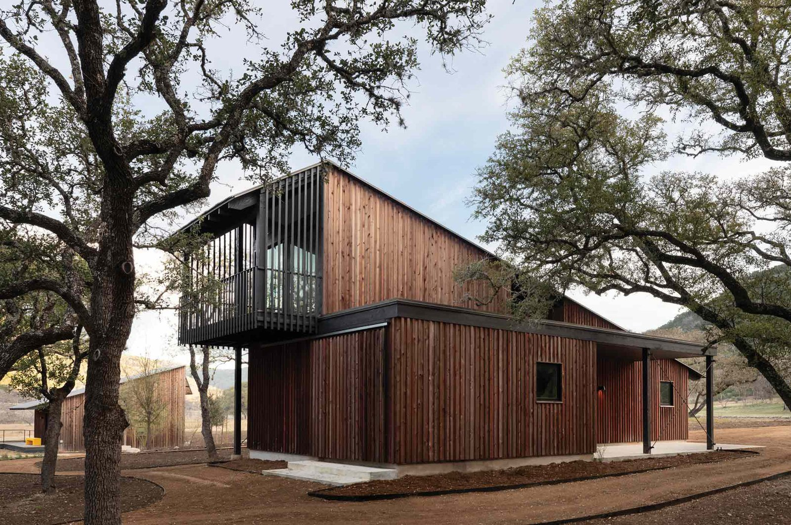 Camp Frio by Tim Cuppett Architects garage