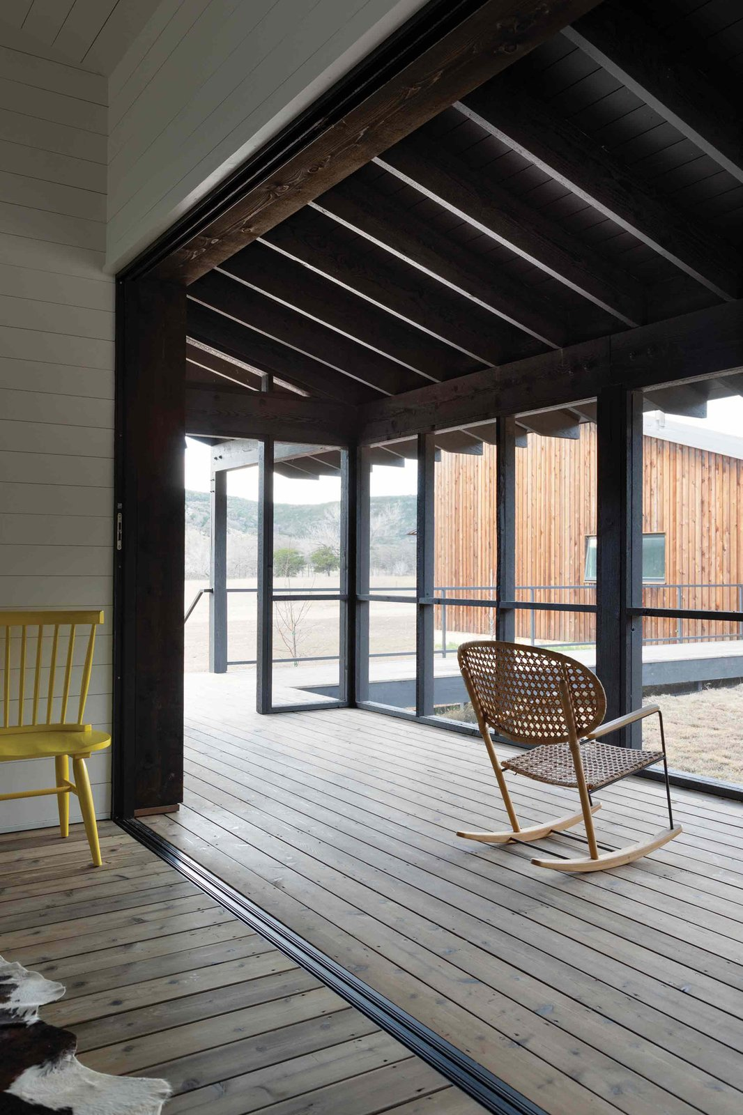 Camp Frio by Tim Cuppett Architects porch