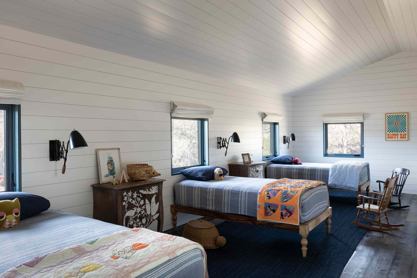 Camp Frio by Tim Cuppett Architects bunk room
