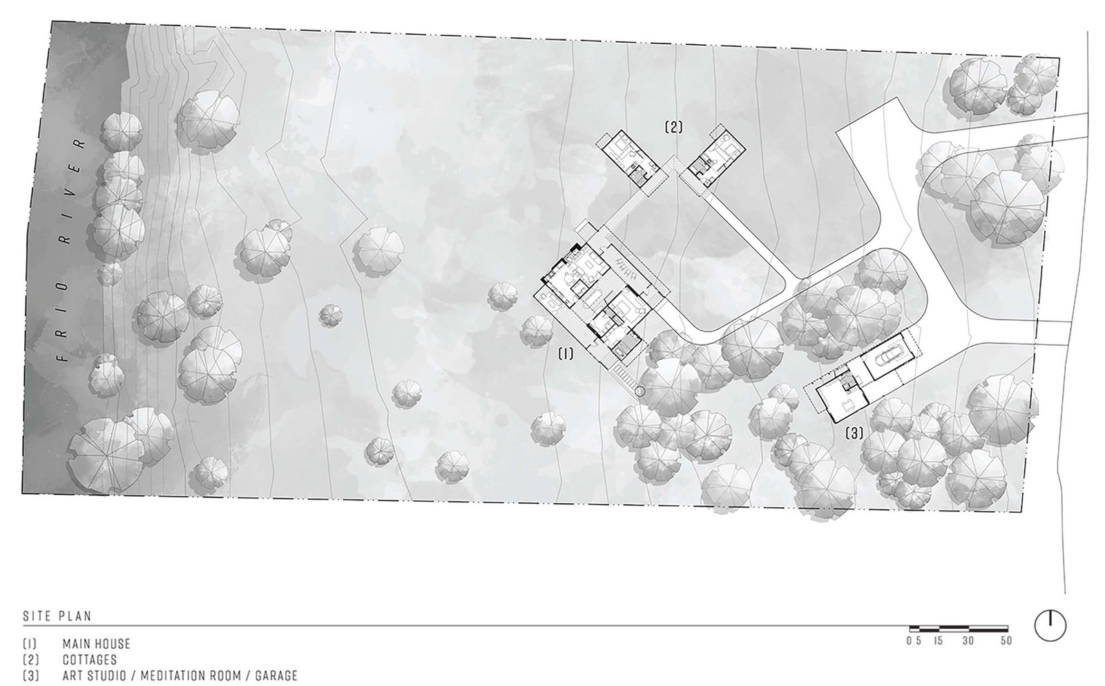 Camp Frio by Tim Cuppett Architects site plan