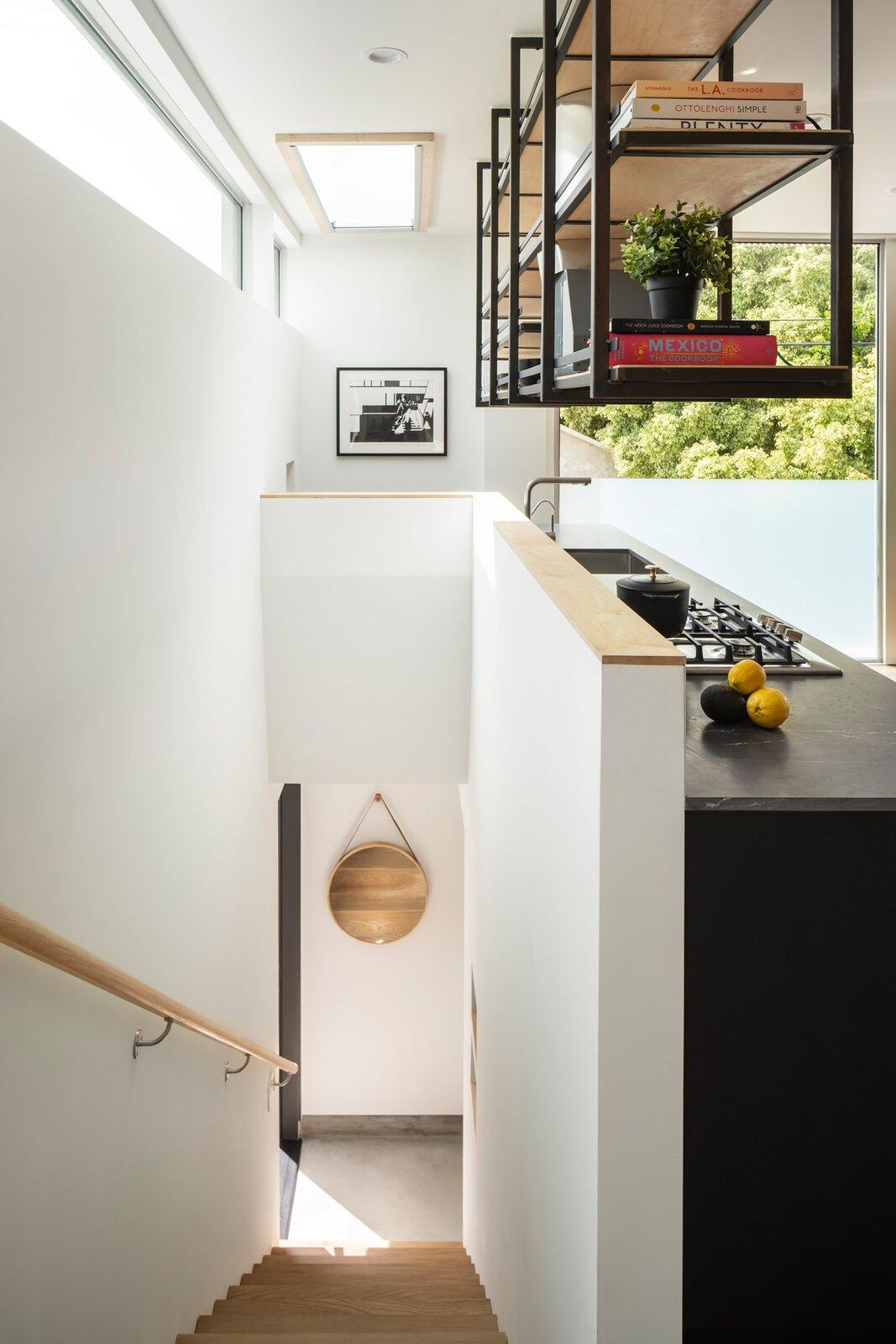 Bau10 Architecture Couer D'Alene stairway and kitchen